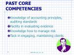 past core competencies