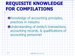 requisite knowledge for compilations