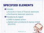 specified elements