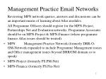 management practice email networks
