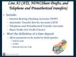 line a2 ats now share drafts and telephone and preauthorized transfers1