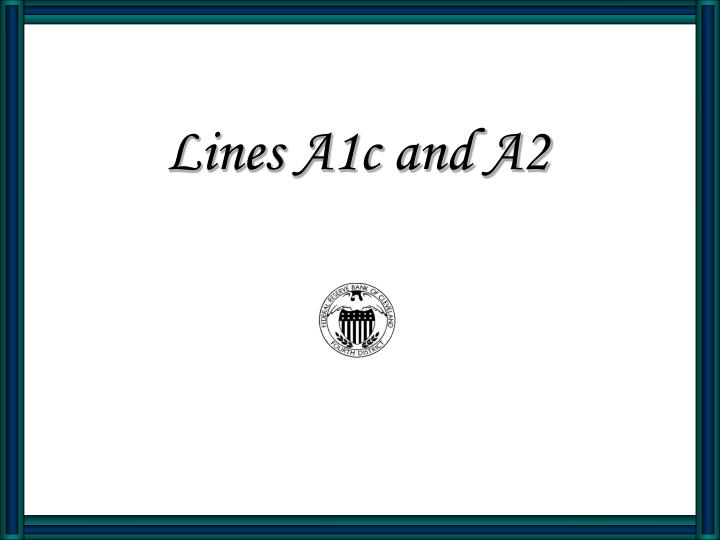 lines a1c and a2 n.
