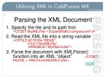 parsing the xml document