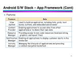 android s w stack app framework cont