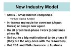 new industry model