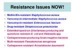 resistance issues now