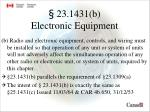 23 1431 b electronic equipment