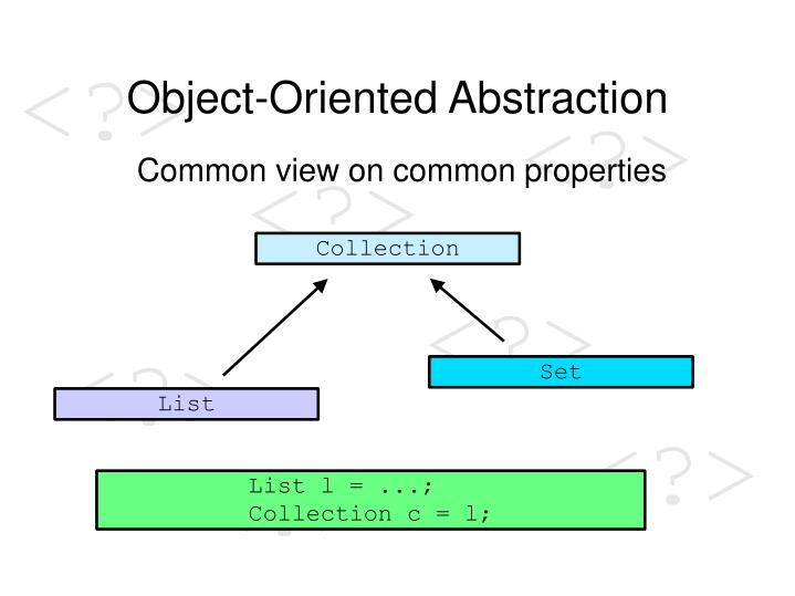 Object-Oriented Abstraction