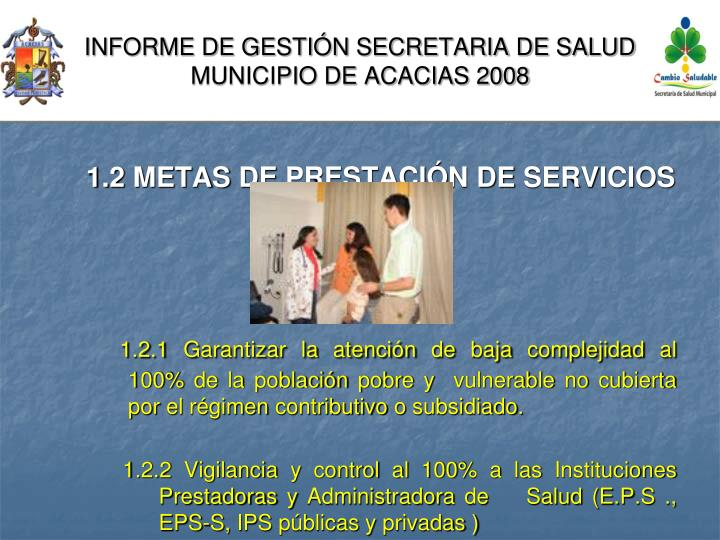 Informe de gesti n secretaria de salud municipio de acacias 20082
