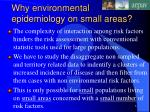 why environmental epidemiology on small areas