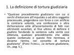 1 la definizione di tortura giudiziaria