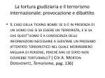 la tortura giudiziaria e il terrorismo internazionale provocazione e dibattito