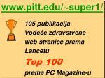 105 publikacija vode e zdravstvene web stranice prema lancetu top 100 prema pc magazine u