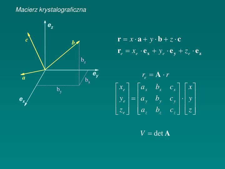 Macierz krystalograficzna