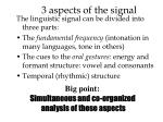3 aspects of the signal