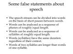 some false statements about speech