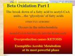 beta oxidation part i