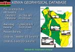 kenya geophysical database