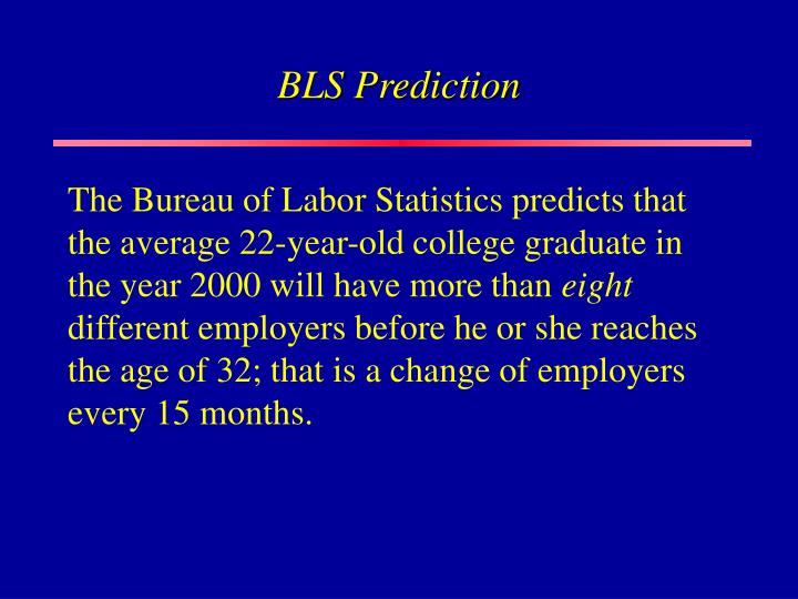 BLS Prediction