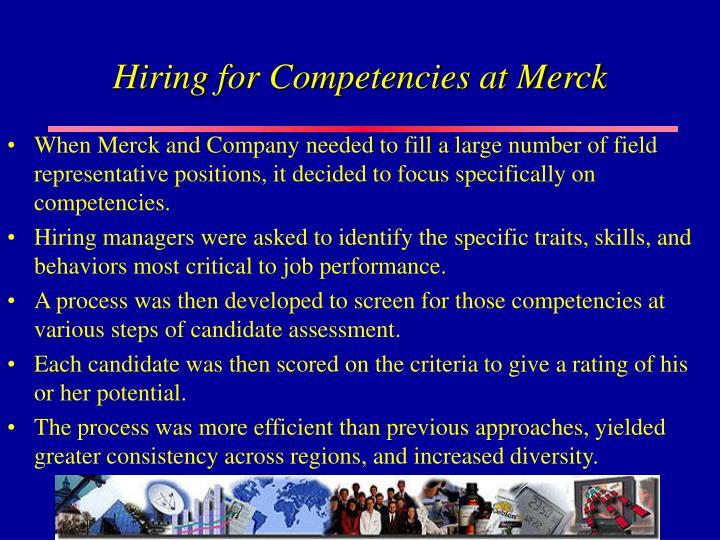 Hiring for Competencies at Merck