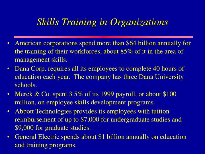 Skills Training in Organizations
