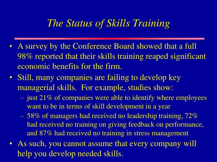 The Status of Skills Training