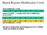 shared register modification contd