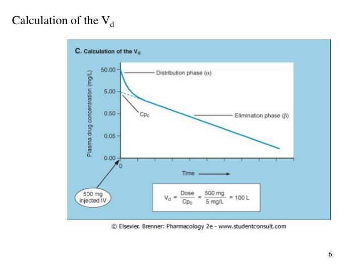 Calculation of the V