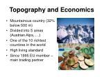 topography and economics