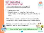key incentive considerations1