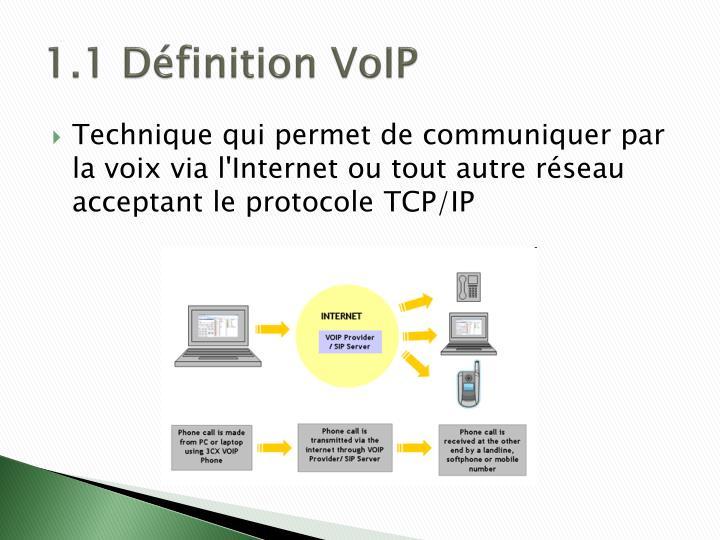 1.1 Définition VoIP