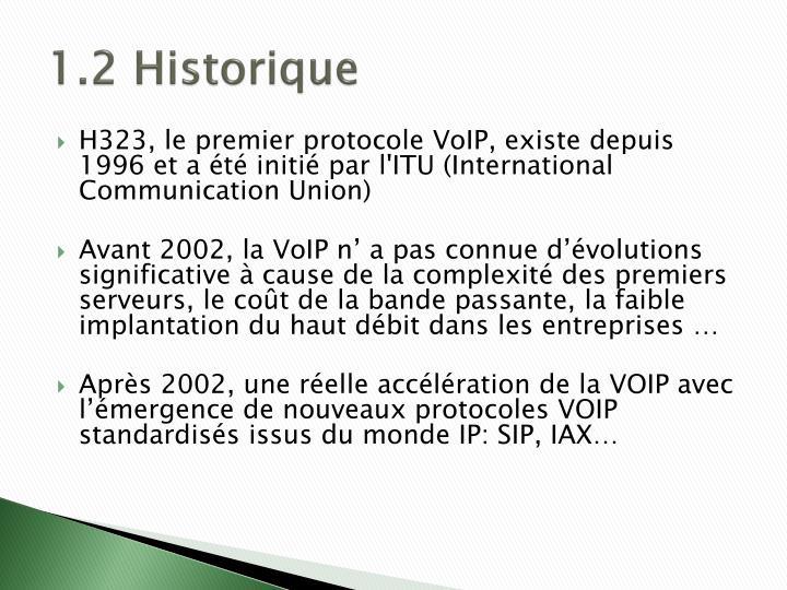 1.2 Historique