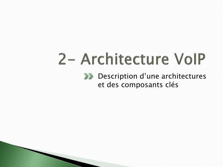 2- Architecture VoIP