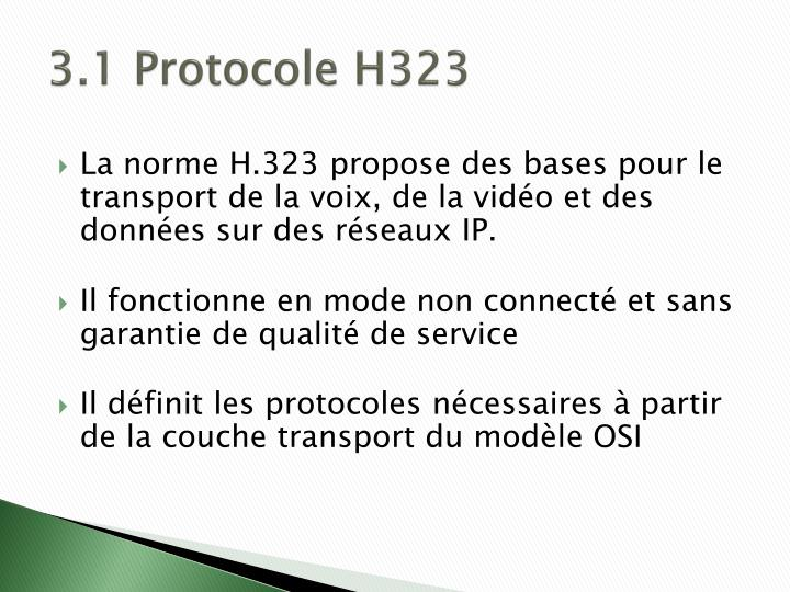 3.1 Protocole H323