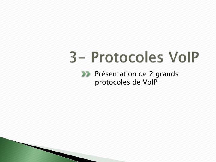 3- Protocoles VoIP