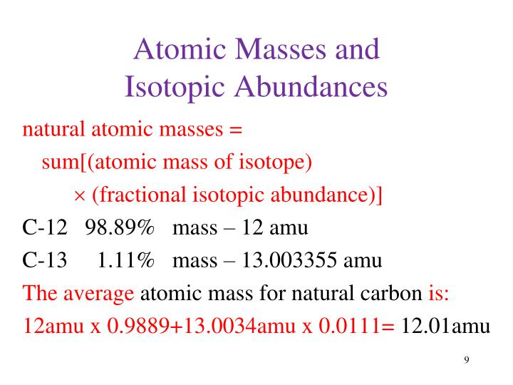 Atomic Masses and