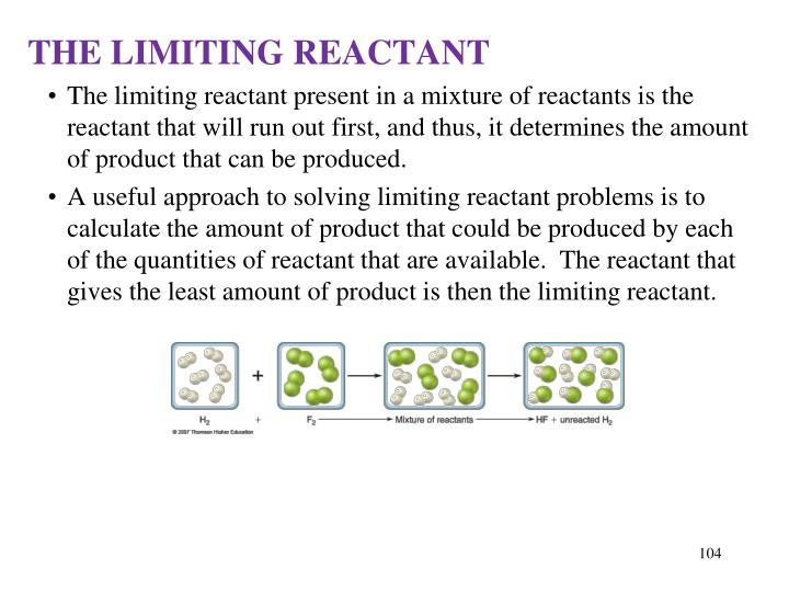 THE LIMITING REACTANT