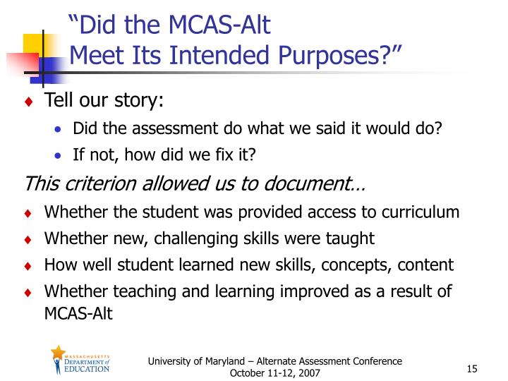 """Did the MCAS-Alt"