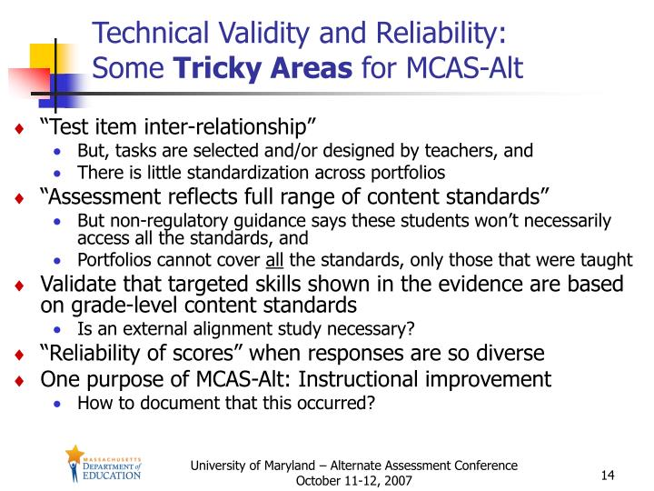 Technical Validity and Reliability: