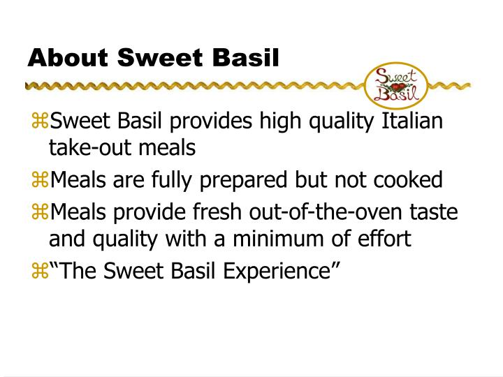 About sweet basil