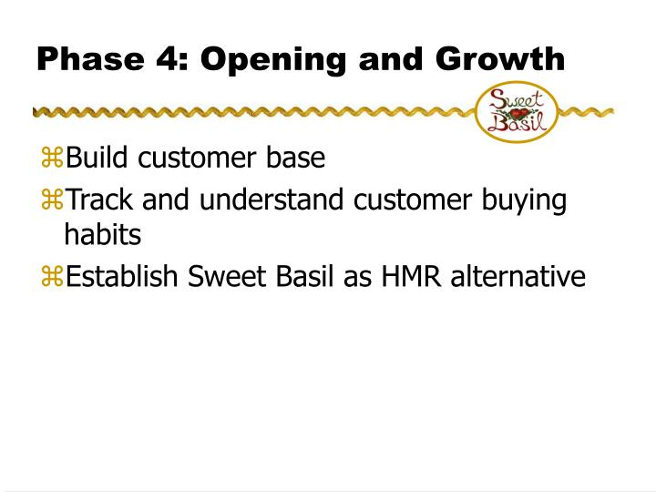 Phase 4: Opening and Growth
