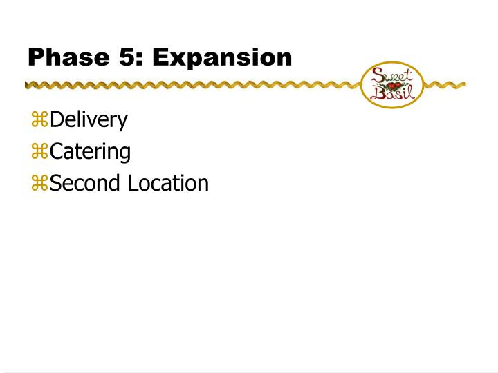Phase 5: Expansion