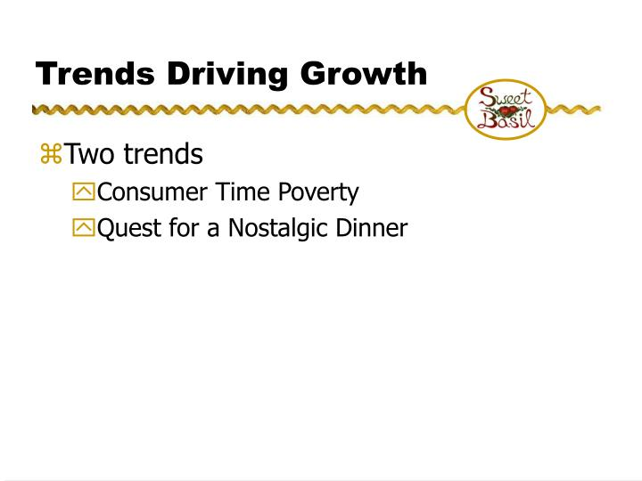 Trends Driving Growth