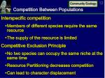 competition between populations
