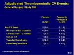 adjudicated thromboembolic cv events general surgery study 069