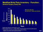 modified brief pain inventory function general surgery study 069