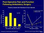 post operative pain and function following ambulatory surgery