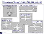 dimensions of boeing 737 600 700 800 and 900