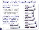 example leveraging strategies boeing aircraft