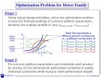optimization problem for motor family